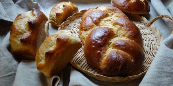 brioche moulée et brioche tressée au levain, dans une boulangerie artisanale qui fait du pain bio au levain